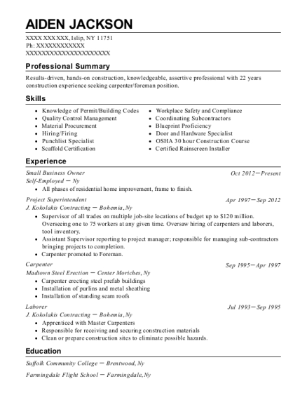 Small Business Owner resume example New York