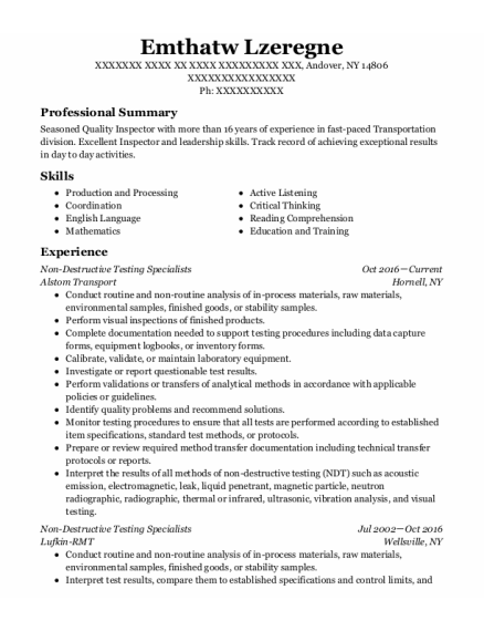 Job Foreman resume format New York