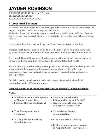 Clay County Medical Center Medical Coder Resume Sample