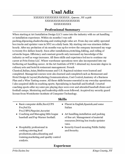 Art Handler Cover Letter Primary Collection Most Popular
