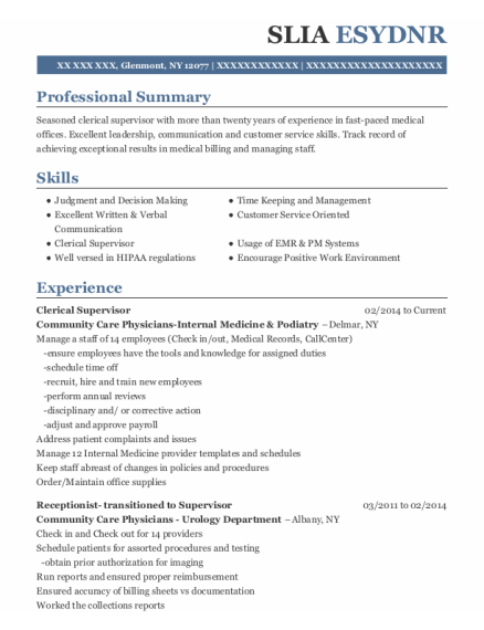 Medical secretary resume format New York