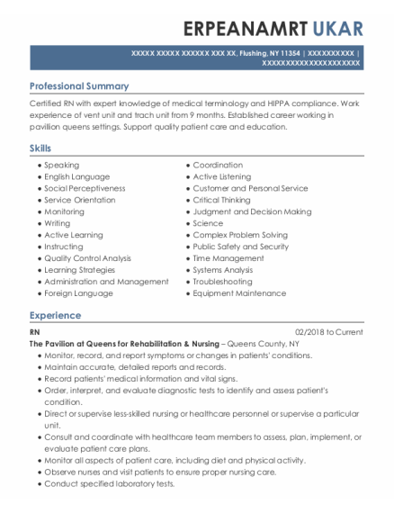 Clerical Associate resume example New York
