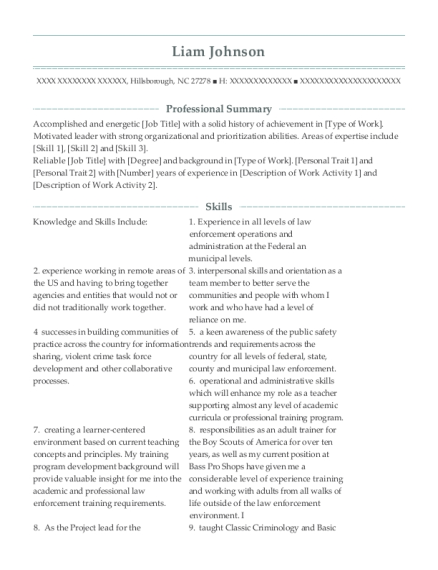 Senior Consultant resume sample North Carolina