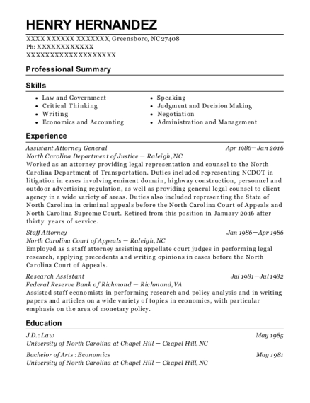 District attorney assistant emplyment resume