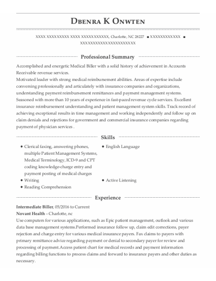Customer Service Representative Ii resume example North Carolina