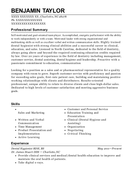 dr russell staggs dental hygienist resume sample