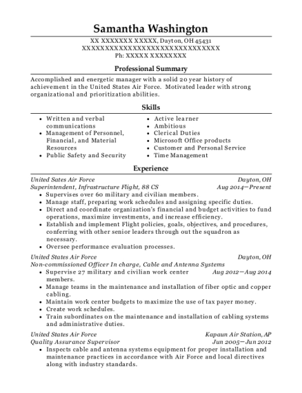 Superintendent resume sample Ohio