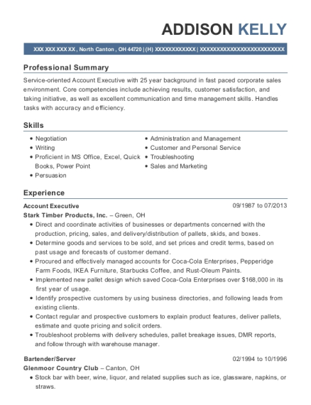 Account Executive resume sample Ohio