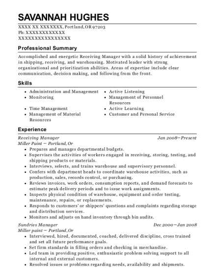 xorail project manager i resume sample