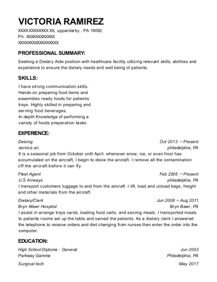 Deicing resume sample Pennsylvania