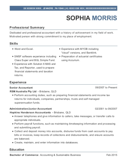 20 Best Senior Accountant Resumes Resumehelp