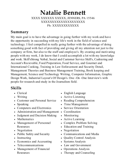 Small Business Owner resume sample Pennsylvania