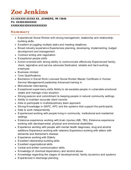 Executive Director resume format Pennsylvania