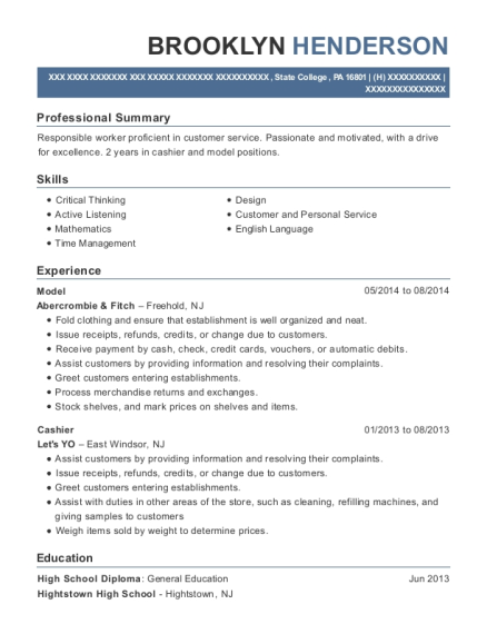Model resume template Pennsylvania