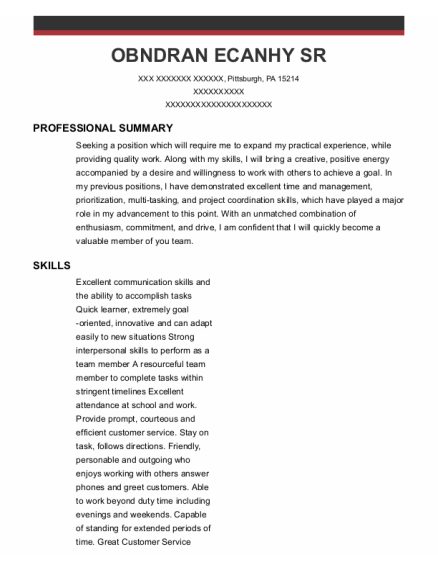 Sterile Processing Tech resume example Pennsylvania