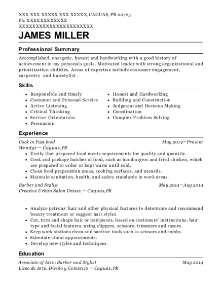 20 Best Fast Food Resumes Resumehelp