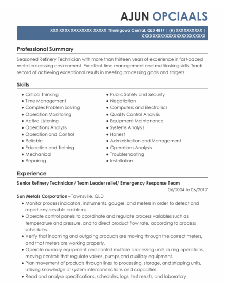 Stores Person resume template QLD