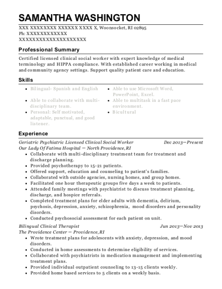 melissa huber licensed clinical social worker resume