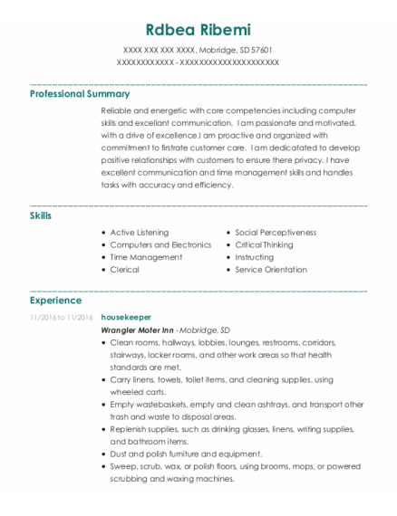 Pharmacy Tech resume format South Dakota