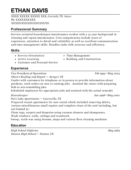 Vice President of Operations resume sample Texas