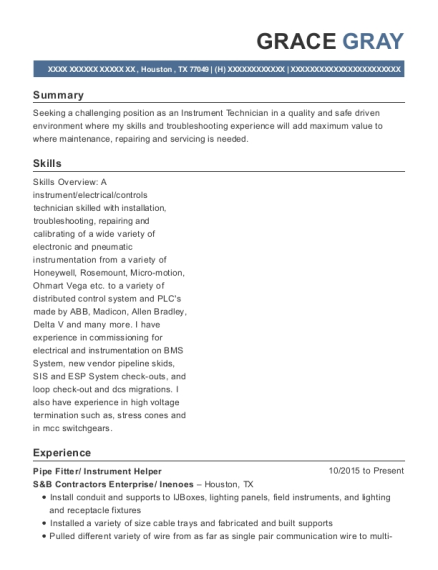 Pipe Fitter resume template Texas