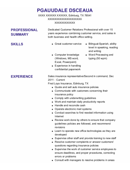 Collections Agent resume sample Texas