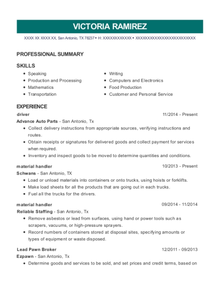 Ez Pawn Lead Pawn Broker Resume Sample - South Jordan Utah | ResumeHelp