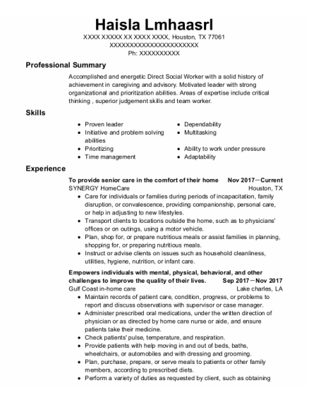 Physical Therapist resume example Texas