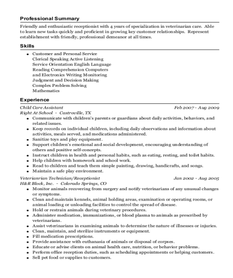 Best Child Care Assistant Resumes