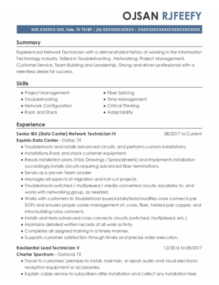 OPERATIONS SUPPORT SPECIALIST resume example Texas