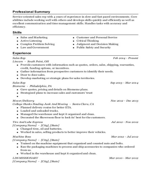 How to list lds mission on resume