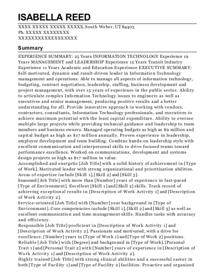 Adjunct Faculty resume example Utah