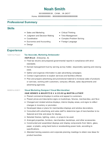 Tax Associate resume format Virginia