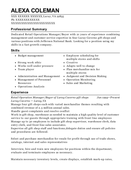 20 Best Retail Operations Manager Resumes Resumehelp