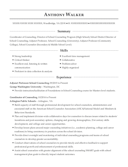 tunica county schools professional school counselor resume