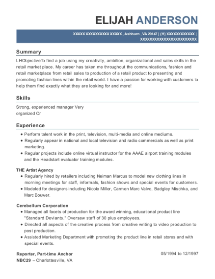 Reporter resume sample Virginia