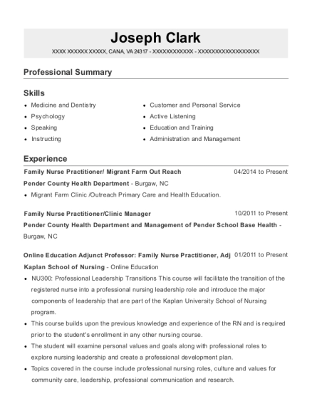 Md2u Family Nurse Practitioner Resume Sample Resumehelp