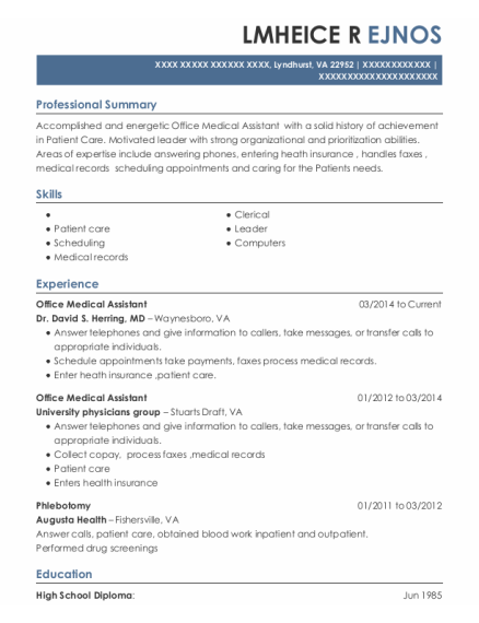 20 Best Front Office Medical Assistant Resumes Resumehelp