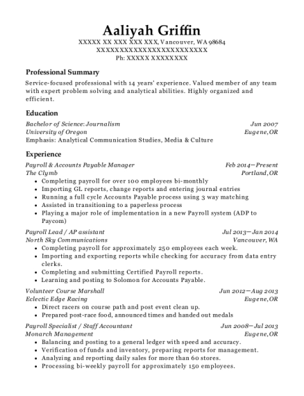 Best Accounts Payable Manager Resumes