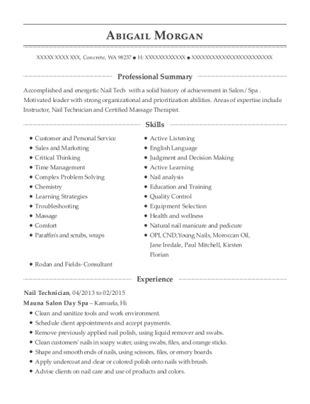 Maistylesalon Lash Technician Resume Sample Resumehelp
