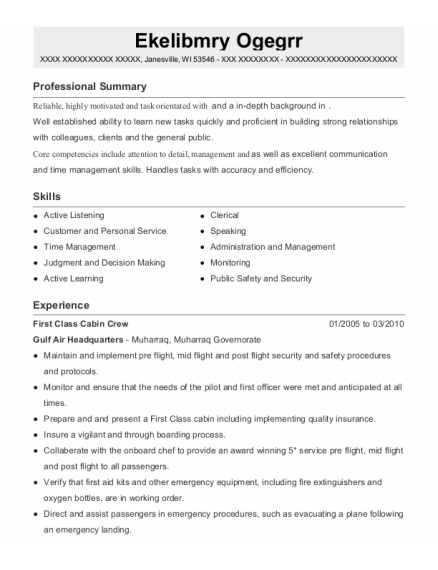 Customer Service Advisor resume template Wisconsin