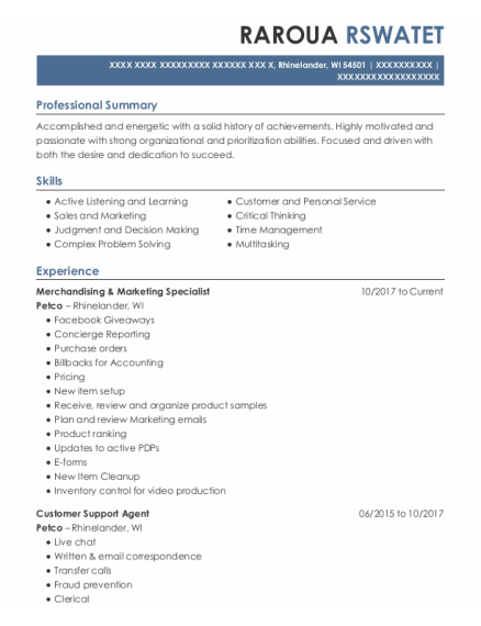 Resident Assistant resume sample Wisconsin